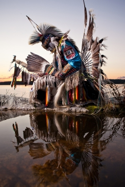 A Warrior's Soul - Danny Boy Stephens, N'Dilo, Northwest Territories. Photo by Dave Brosha.