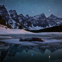 Adrift at Moraine Lake. Photo by Paul Zizka.