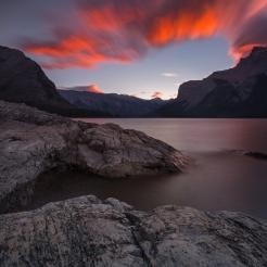 """Test of Time"" Lake Minnawanka. Photo by Wayne Simpson Photography"
