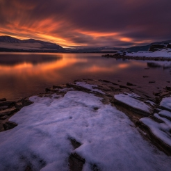 Sunset at Blind Bay, BC. Photo by Viktoria Haack Photography.
