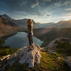 Self portrait at Mount Assiniboine Provincial Park, BC. Photo by Viktoria Haack Photography.